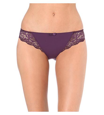 SIMONE PERELE Celeste bikini briefs (Blackcurrant