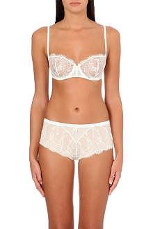 SIMONE PERELE Velvet half-cup lace bra
