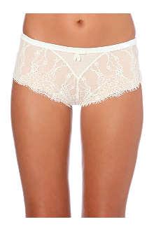 SIMONE PERELE Velvet lace shorts