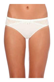 SIMONE PERELE Velvet lace bikini briefs