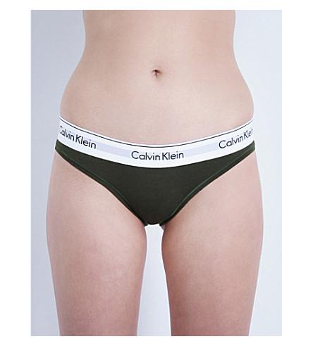 CALVIN KLEIN Modern cotton-jersey bikini briefs (Vy1 valley