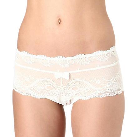AUBADE Linsoumise St tropez boy shorts (Nacre