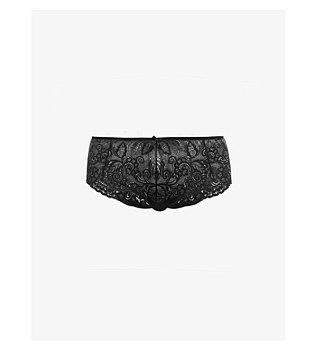 PANACHE Andorra stretch-lace shorty briefs (Black