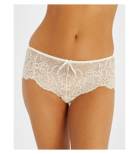 PANACHE Andorra stretch-lace shorty briefs (Pearl