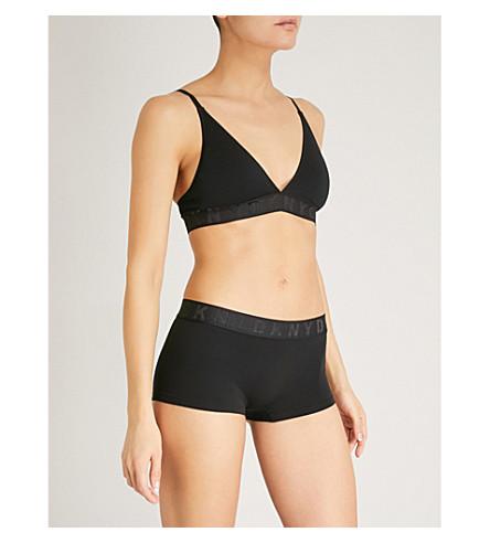 DKNY Litewear triangle-cup jersey bralette (Black