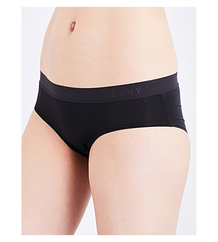 DKNY Classic Cotton stretch-cotton boyshort briefs (Black