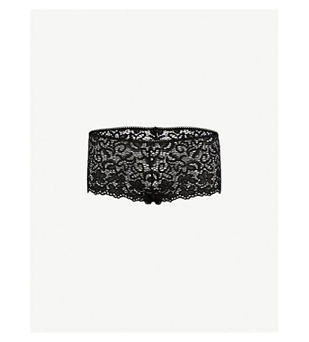 DKNY Classic floral lace cheeky briefs (Black
