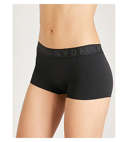 DKNY Litewear textured jersey hipster briefs (Black