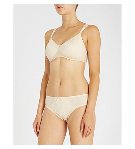 AMOENA Gracy mastectomy padded jacquard bra (Nude+offwhite