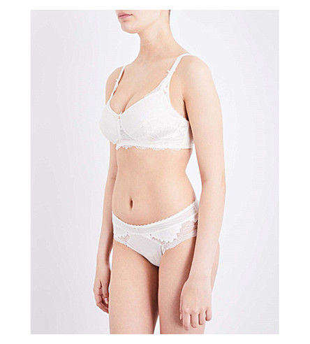 AMOENA Aurelie mastectomy lace bra (Off+white
