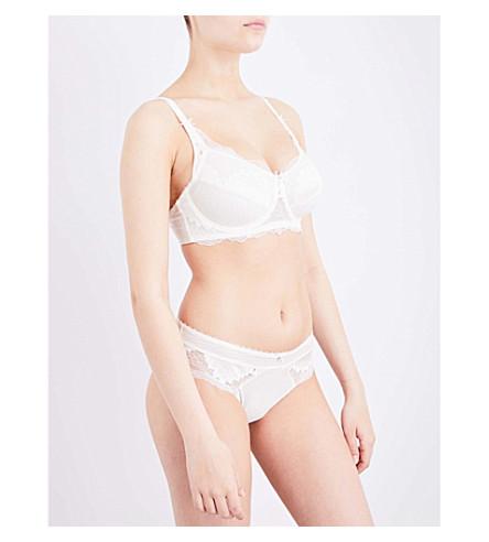 AMOENA 奥尔莉乳房切除术带钢圈蕾丝胸罩 (关闭 + 白色