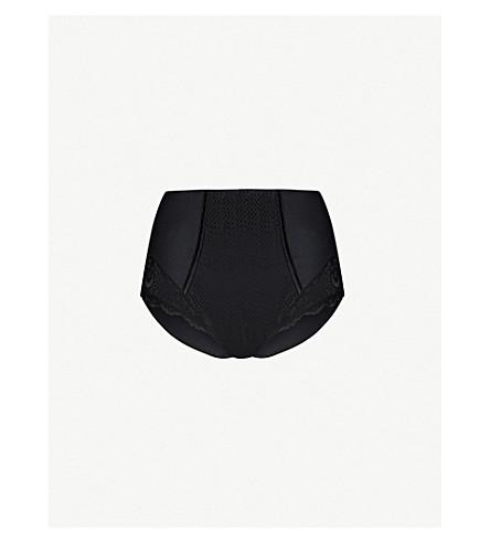 MAISON LEJABY Gaby high-rise lace briefs (Black