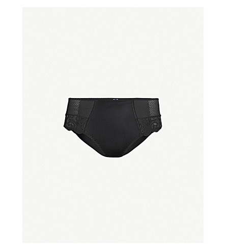 MAISON LEJABY Gaby sculpting briefs (Black
