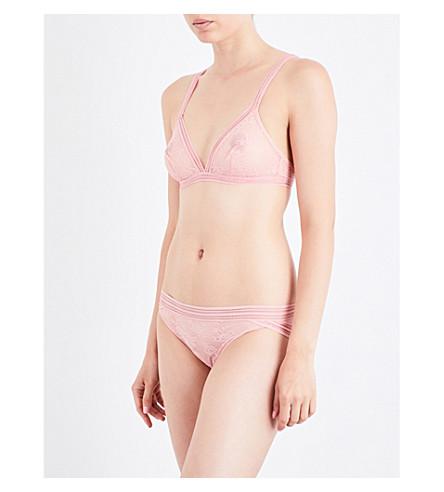 MAISON LEJABY Miss Lejaby lace triangle bra (Extra+peach