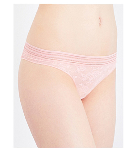 MAISON LEJABY Miss Lejaby lace thong (Extra+peach