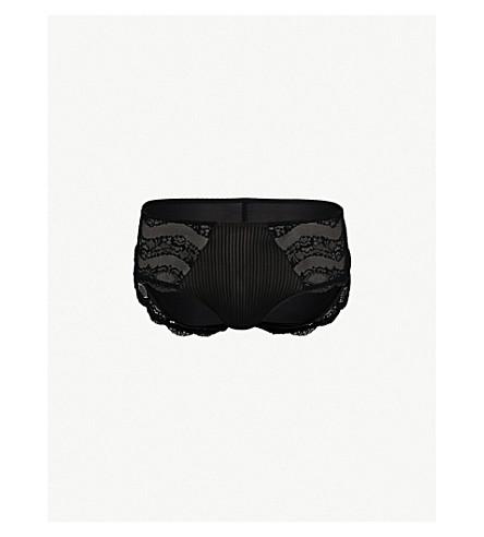 MAISON LEJABY Insaisissable stretch-lace briefs (Black