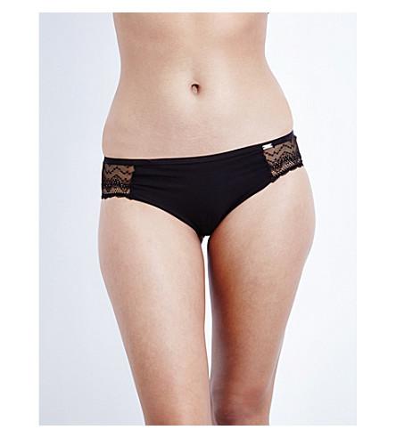 CHANTELLE Mademoiselle jersey Brazilian briefs (Black