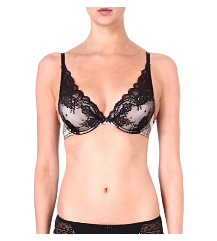 CHANTELLE Paris Paris push-up bra (Black/nude