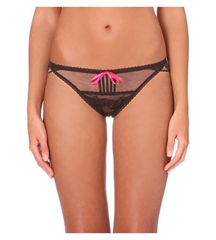 PASSIONATA Miss Coquette Sexy mesh tanga briefs (Black