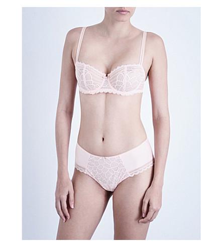 CHANTELLE Merci lace half-cup push-up bra (Paradise+pink