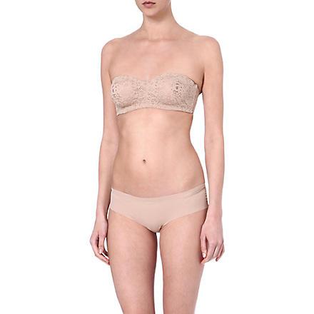 WACOAL Halo Lace strapless bra (Toas: toast