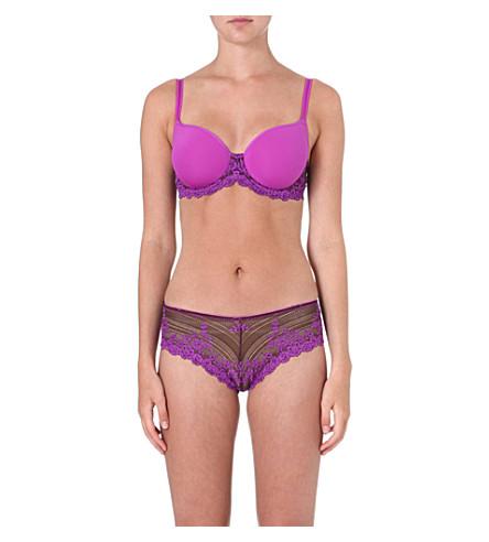 WACOAL Embrace lace contour bra (Coffee/purple