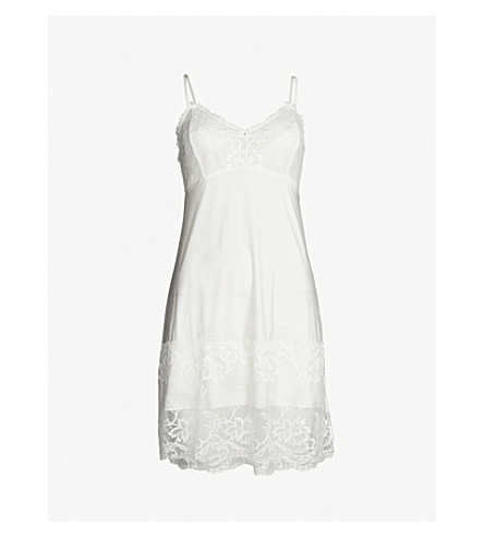 FANTASIE Bronte lace and satin chemise (Ivory