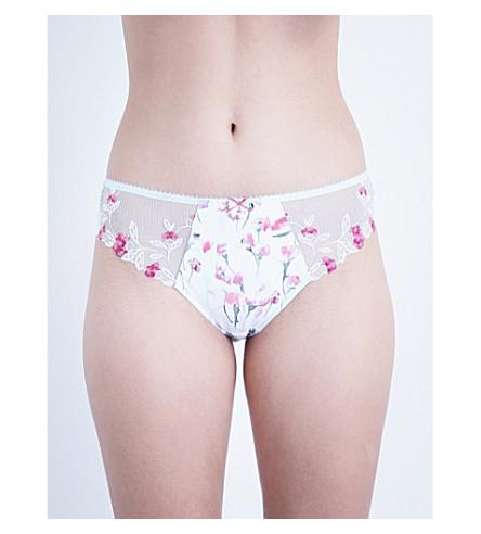 FANTASIE Alicia embroidered satin bikini briefs (Mint