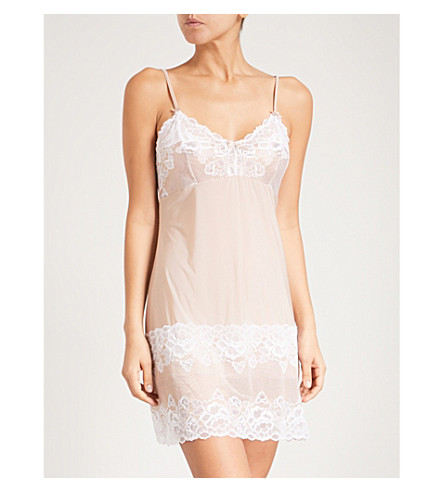 FANTASIE Marianna lace and satin chemise (Latte