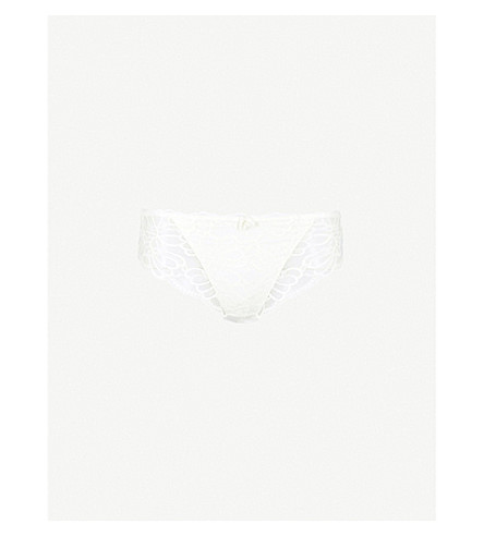 FANTASIE Jacqueline lace and mesh briefs (Ivory