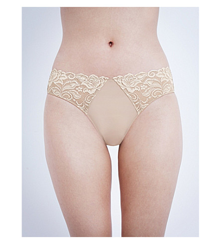 WACOAL Eglantine lace bikini briefs (Brown