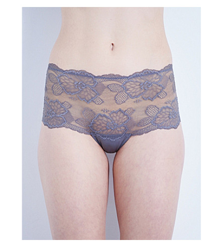 WACOAL Vision lace high-waisted briefs (Dove