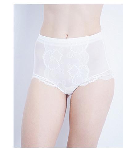 WACOAL 视觉弹力花边控制内裤 (珍珠