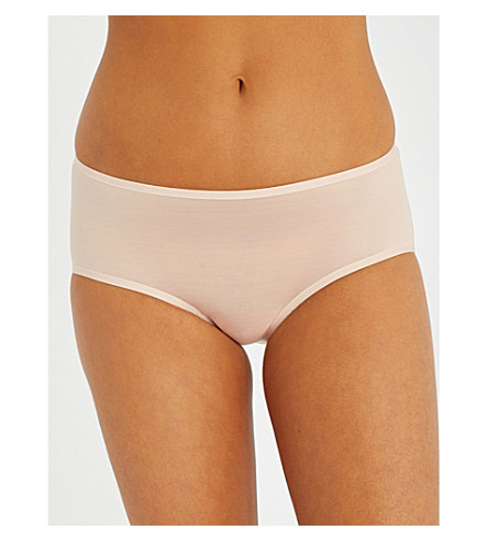 WOLFORD Sheer Touch jersey briefs (Rosepowder