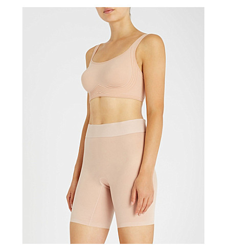 Cheap Sale Low Shipping Enjoy Shopping WOLFORD Signature Skin cropped stretch-cotton bra Rose tan Cheap Free Shipping Discount Explore P1QYHGS