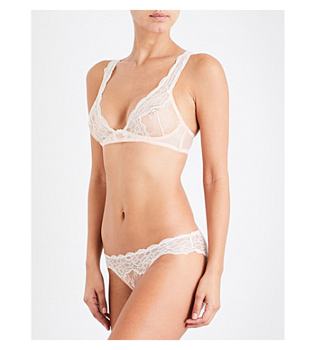HEIDI KLUM INTIMATES Prim Desire stretch-lace underwired bra (Pale+blush/gardenia