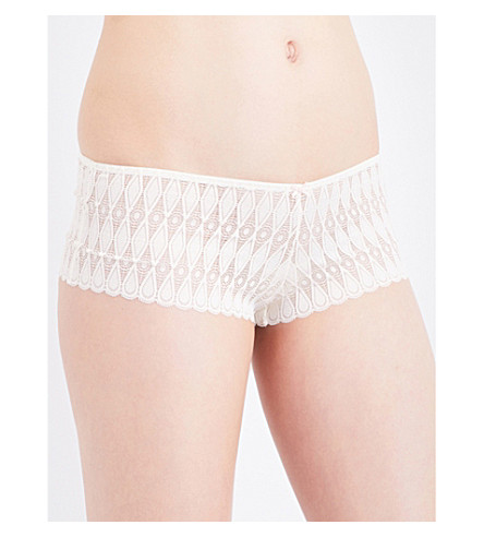 HEIDI KLUM INTIMATES Dreamtime lace boyshort briefs (Gardenia+shell