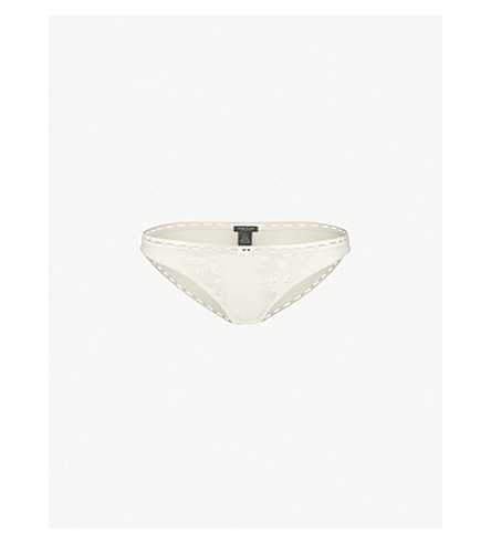 HEIDI KLUM INTIMATES Tuberose Tryst stretch-lace bikini briefs (Gardenia+scallop+shell