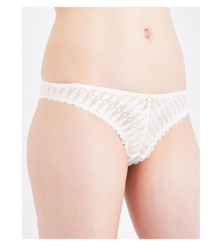 HEIDI KLUM INTIMATES Dreamtime lace thong (Gardenia+shell