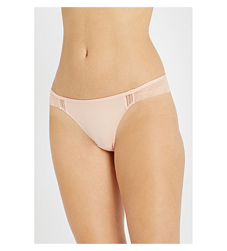 HEIDI KLUM INTIMATES An Angel Kiss mesh thong (Evening+sand