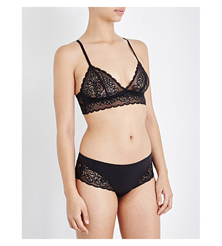 TRIUMPH Amourette Spotlight stretch-lace soft-cup bra (Black