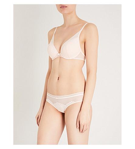 TRIUMPH Darling Spotlight lace and mesh push-up bra (Orange+highlight