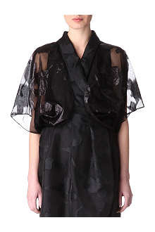 ARMANI COLLEZIONI Silk-blend cover-up