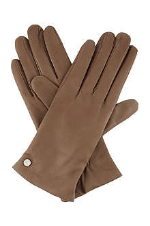ARMANI COLLEZIONI Classic leather gloves