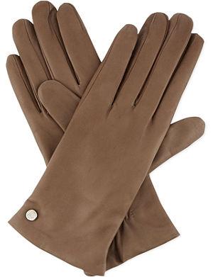 ARMANI COLLEZIONI Classic leather gloves