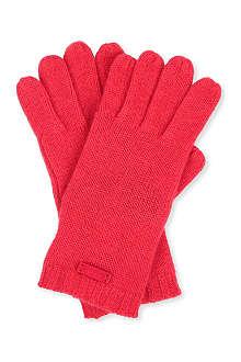ARMANI COLLEZIONI Classic cashmere gloves