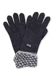 ARMANI COLLEZIONI Contrast-cuff gloves