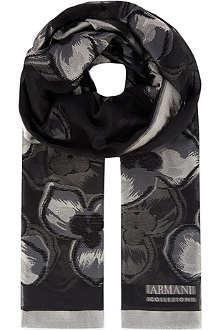 ARMANI COLLEZIONI Floral pattern scarf