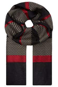 ARMANI COLLEZIONI Sheer pattern scarf