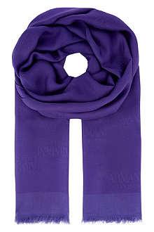 ARMANI COLLEZIONI Classic logo scarf
